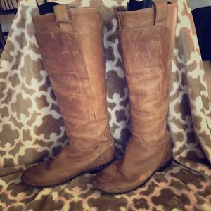 FRYE Paige Tall Riding Boots Tan